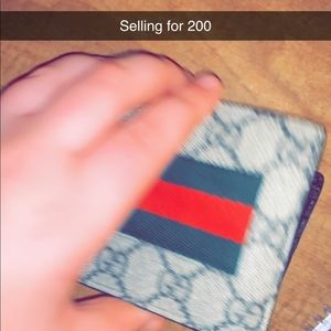 Gucci wallet bought from gucci price is 250